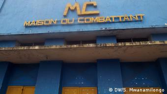 The meeting house for war veterans in Kinshasa