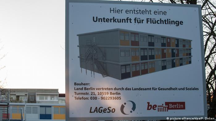 Deutschland Berlin Flüchtlingsunterkunft
