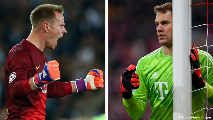 Stegen e Neuer: estrelas da atual geração de goleiros