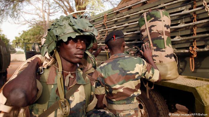 Senegalesische Soldaten Armee