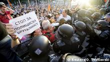 Mazedonien Gewalt Proteste in Skopje