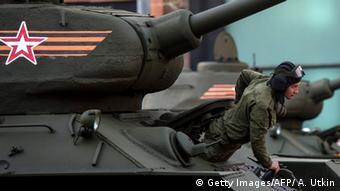 Russland Vorbereitungen für die Militärparade zum 9. Mai