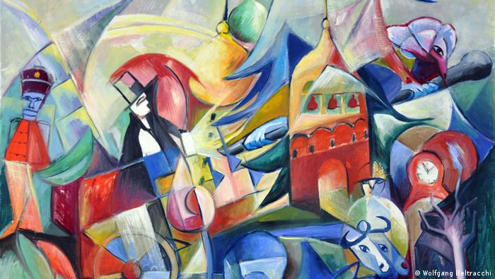 Beltracchi exhibition, painting Hommage an Mussorgsky. Copyright: Wolfgang Beltracchi