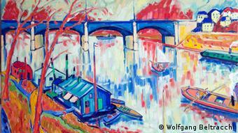 Beltracchi exhibition - painting Le Pont de Chatou. Copyright: Wolfgang Beltracchi