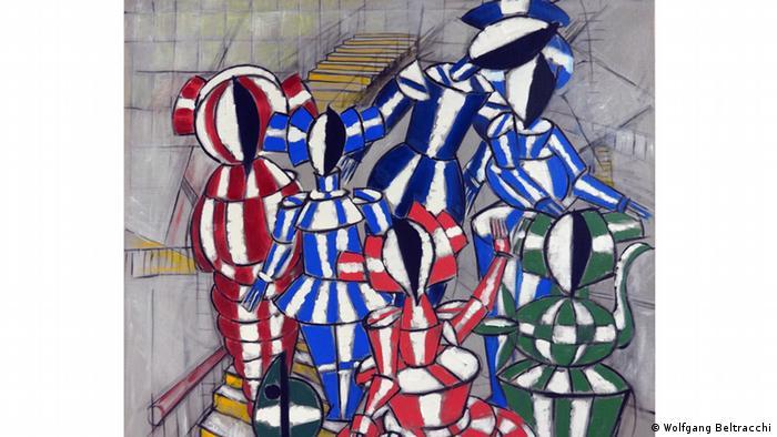 Beltracchi exhibition, painting Tanz auf der Treppe. Copyright: Wolfgang Beltracchi