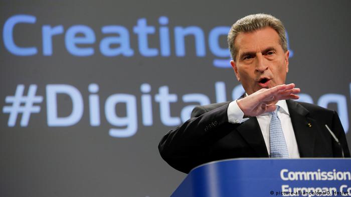 Günther Oettinger - digitaler Binnenmarkt EU