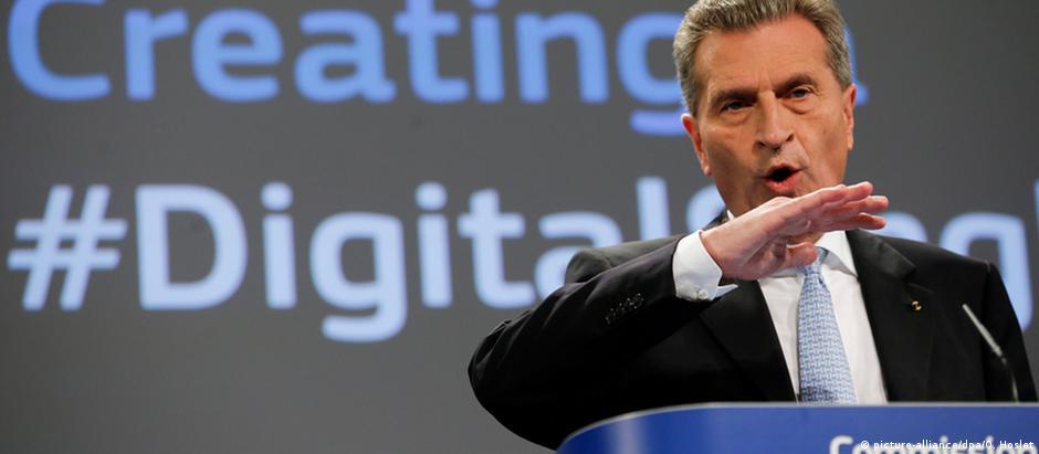 Günther Oettinger, comissário europeu para economia digital