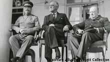 Josef Stalin Franklin Roosevelt e Winston Churchill
