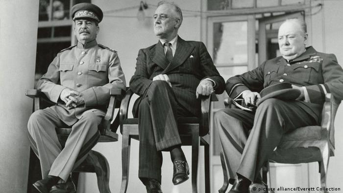 استالین، روزولت و چرچیل در تهران