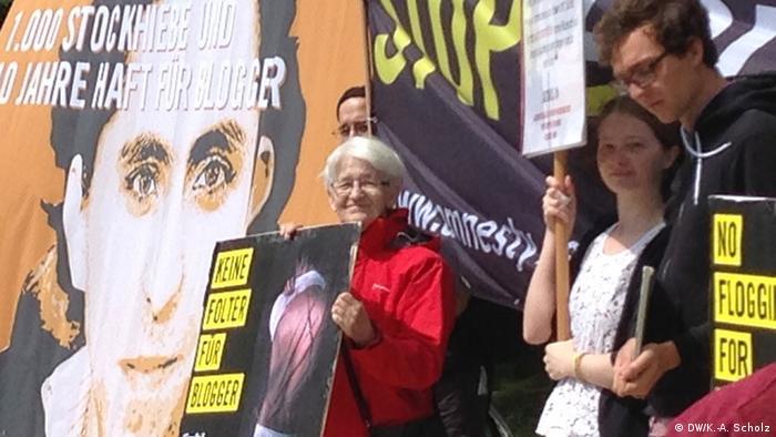 Berlin Demonstration für saudischen Blogger Raif Badawi