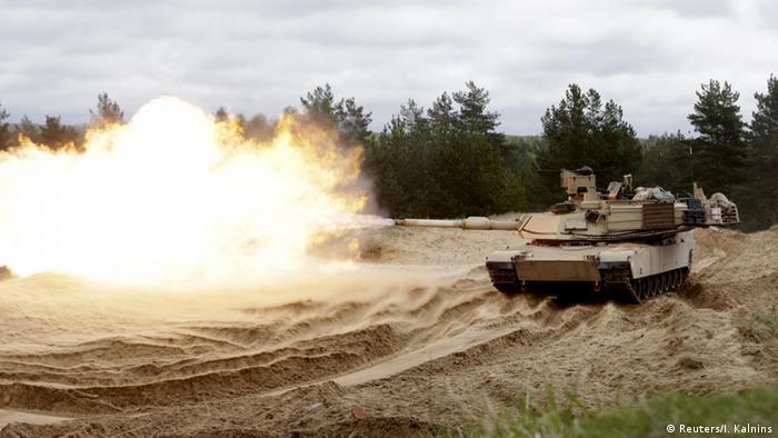 US Manöver im Baltikum Lettland