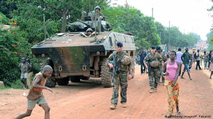 Französische Soldaten in der Zentralafrikanischen Republik