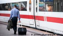 Deutschland Bahnstreik Hamburg Hauptbahnhof