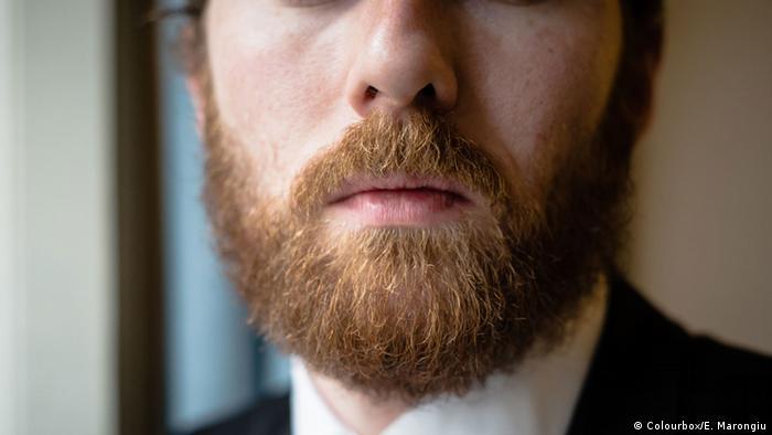 Closeup of well-groomed hipster beard