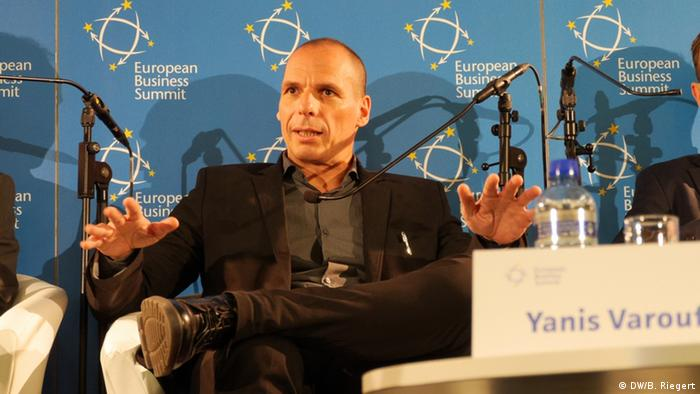 European Business Summit 2015 - Yanis Varoufakis (DW/B. Riegert)