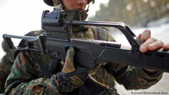 Fusil de asalto tipo G-36, de uso del Ejército alemán.