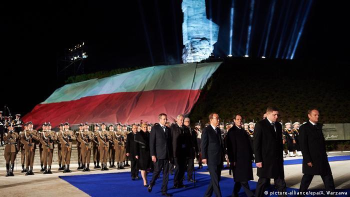 Политики в Польше на годовщине окончания Второй мировой войны в 2015 году