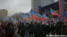 Kundgebung der Befürworter der Donezker Volksrepublik