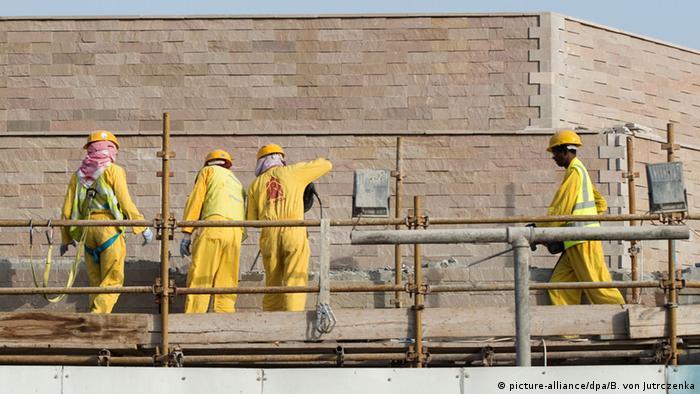 Строители в Катаре