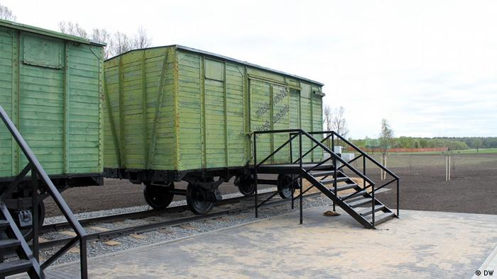 These train cars carried the victims to Maly Trostenets