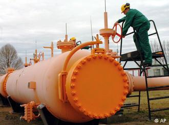 Orange gas pipeline