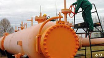 A pipeline valve used by Gasprom