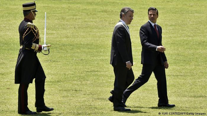 Mexiko - Kolumbianischer Präsident Juan Manuel Santos zu Besuch