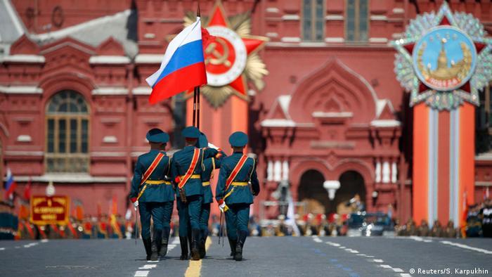 Russland Militärparade in Moskau