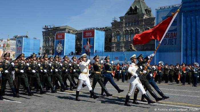 China Militärparade Soldaten
