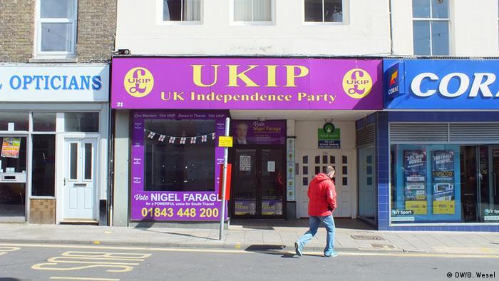 Großbritannien Wahl zum Unterhaus Ramsgate UKIP Parteibüro