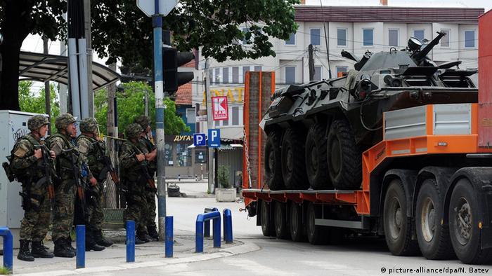 Mazedonien Unruhen Polizei