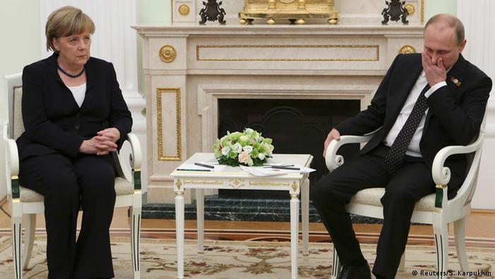 Ангела Меркель и Владимир Путин в Москве, 10 мая 2015 г.