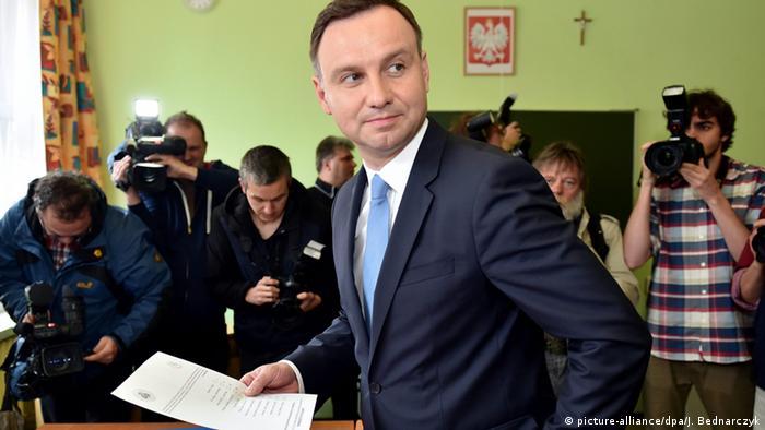Polen Wahl 2015 Stimmabgabe Duda