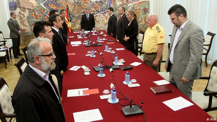 Macedonia's security committee, hosted by President Ivanov