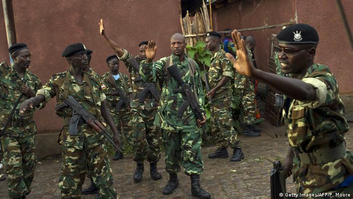 Baadhi ya wanajeshi ndani ya jeshi la Burundi
