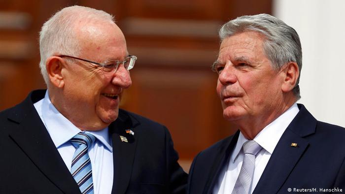 Bundespräsident Joachim Gauck (r.) und der israelische Präsident Reuven Rivlin im Gespräch, Foto: Reuters