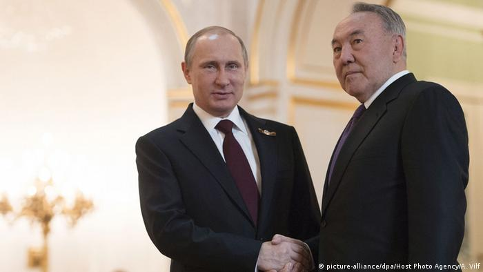 Nazarbayev and Putin in Moscow
