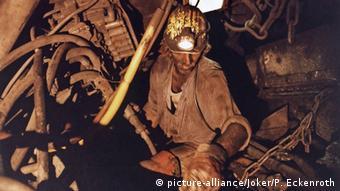Немецкий шахтер в забое