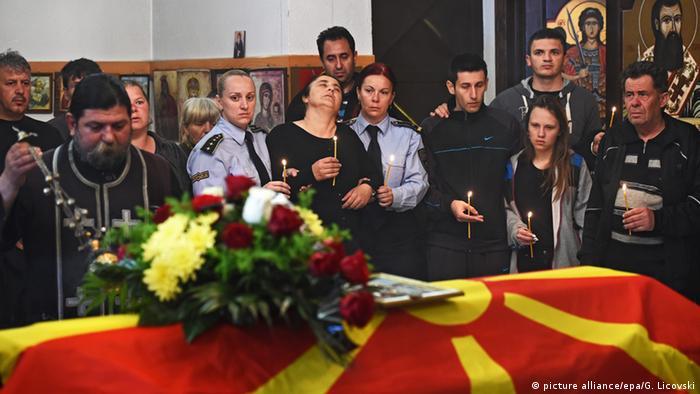 Kumanovo Kämpfe Begräbnis