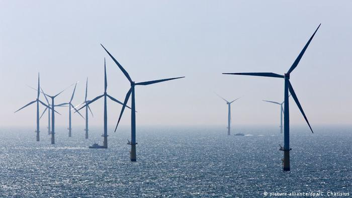 Offshore windpark in de Noordzee