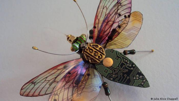 Photo: Bug made out of e-waste. Source: Julie Alice Chappell