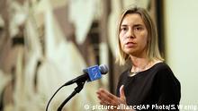 EU-Außenbeauftragte Federica Mogherini bei den UN in New York