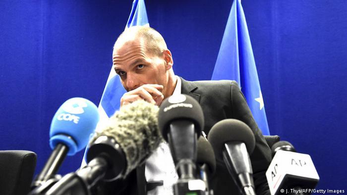 Euro-Finanzministertreffen in Brüssel Yanis Varoufakis