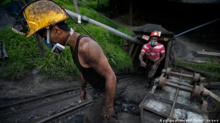 Mineros en Colombia.