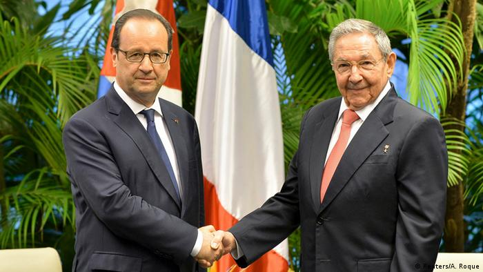 Kuba Frankreich Francois Hollande bei Raul Castro