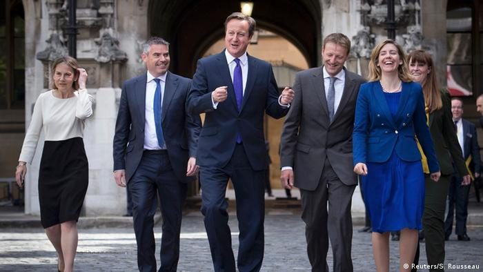 Cameron with newly elected Tory MPs