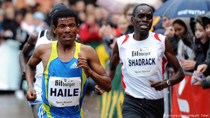 Ethiopian runner Haile Gebrselassie at the Berlin marathon (Harald Tittel dpa/lrs)