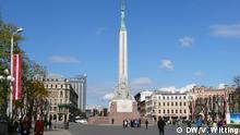Lettland Riga Freiheitsdenkmal