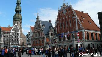 В центре столицы Латвии
