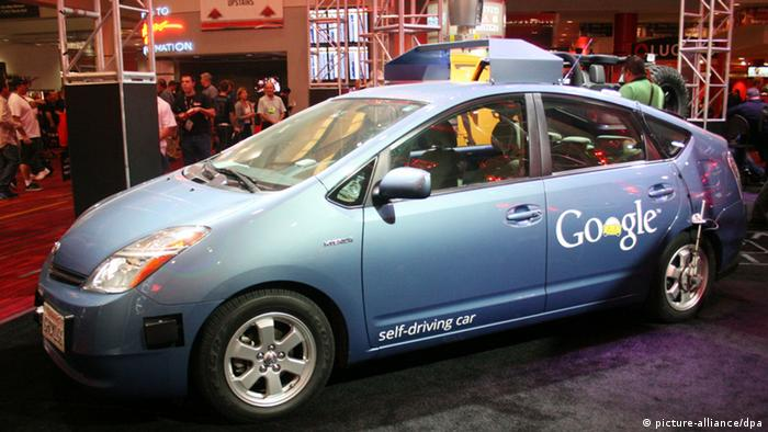 Google's self-driving car. (Photo: DPA/BARRY SWEET)